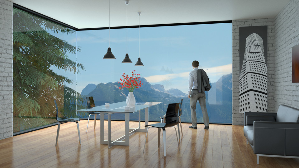 Dining Room with View Archviz Render